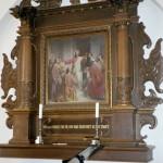 Altertavlen i Sædder Kirke før restaureringen
