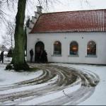 Ingelstrup Kapel set fra syd ved vintertid