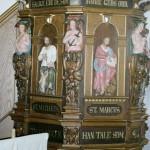 Nymalet skriftestol i Sædder Kirke