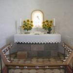 Koret med alterboret før renoveringen