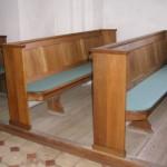 Sædder Kirkes kirkebænke før renovering